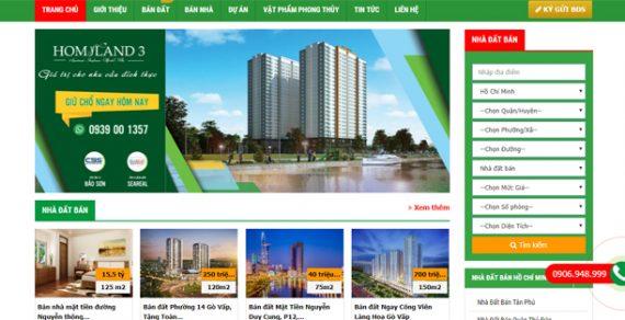 Thiết kế website bất động sản đẹp và chuyên nghiệp